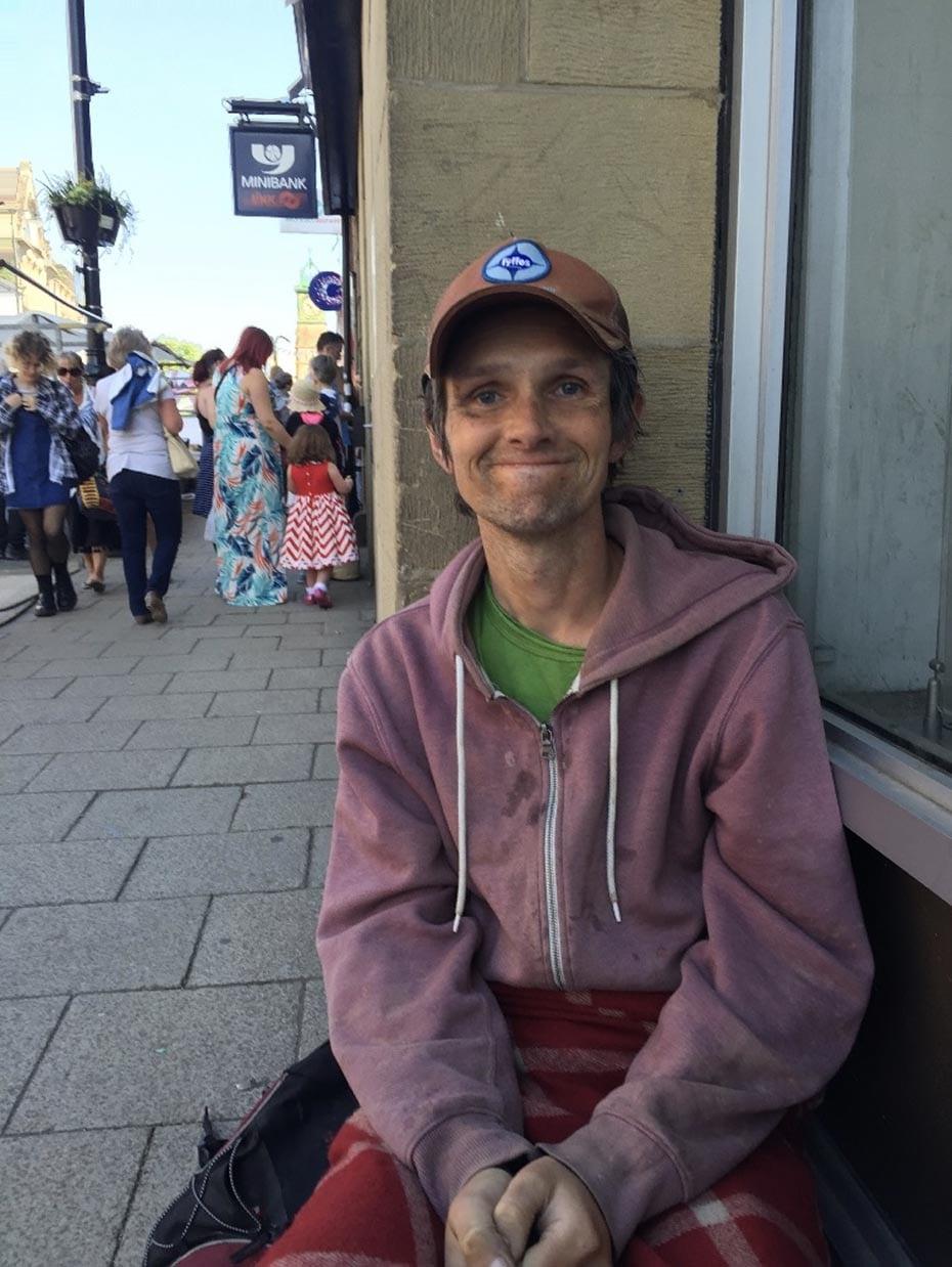Richard, Homeless, begger